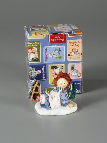 "Figurine:Raggedy Ann Ice Skating Figurine: ""Cold Hands, Warm Heart"""