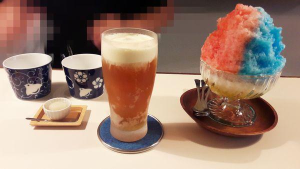 台南 永樂市場 神奇製造 老闆的劉千之手變出雙色神奇刨冰 奶油啤酒不會醉