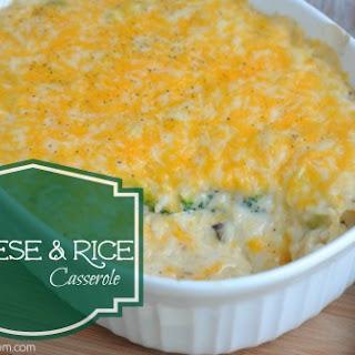 Broccoli Cheese & Rice Casserole.