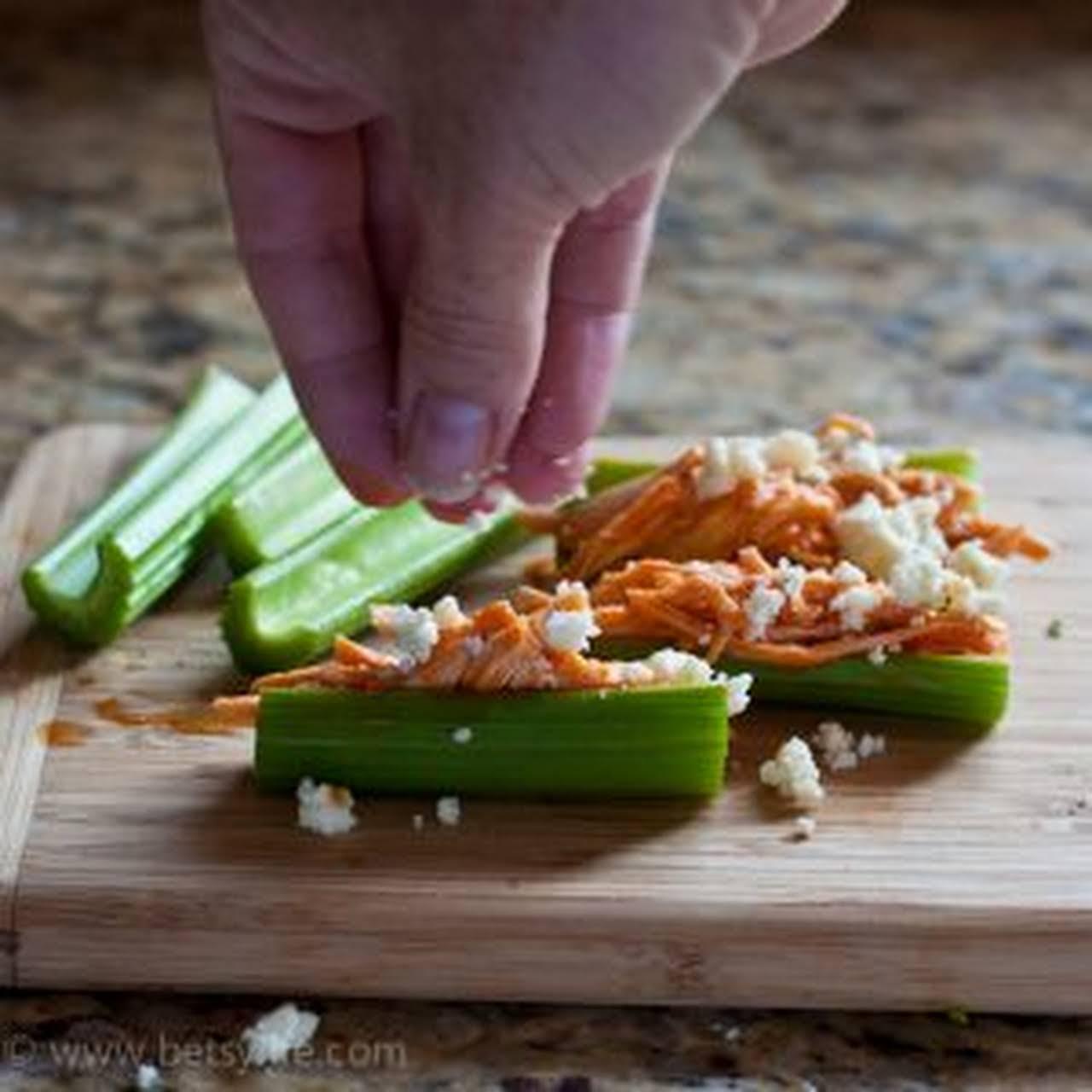Buffalo Chicken & Celery Appetizers