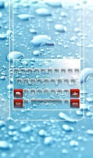 3D Water Rain Droplet Keyboard Theme