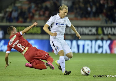 Mouscron s'est incliné 0-3 sur la pelouse du FC Bruges