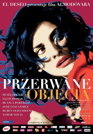 Polski plakat filmu 'Przerwane Objęcia'