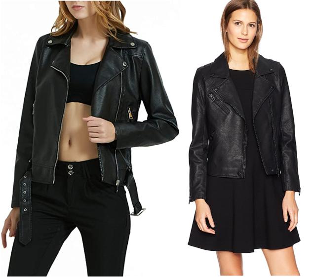 classic wardrobe essentials leather jacket amazon