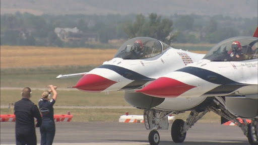 Former Air Force Thunderbirds Pilot Watches As New Generation Soars At The 125th Cheyenne Frontier Days Air Show