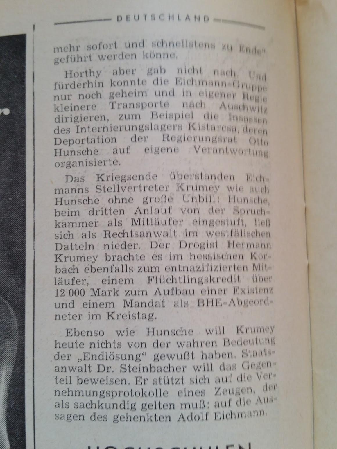 Der Spiegel - 26.4.1964 - Judenvernichtung