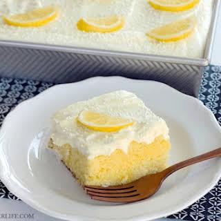 Triple Lemon Poke Cake.