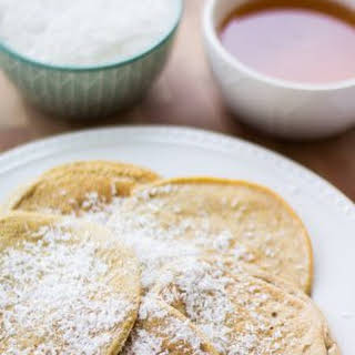 Low Carb Coconut Protein Pancakes.
