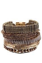 Photo: Bracelet platine HIPANEMA, Fermeture aimantée - Mode BE