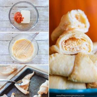 Pumpkin Cream Cheese Crescent Roll