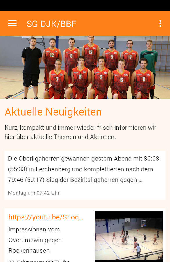 SG DJK/BBF Basketball – Screenshot