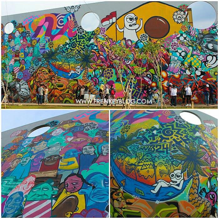 Lukisan Dinding ( Mural ) di RPTRA Kalijodo