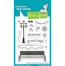 Lawn Fawn Clear Stamps 3X4 - Winter In The Park