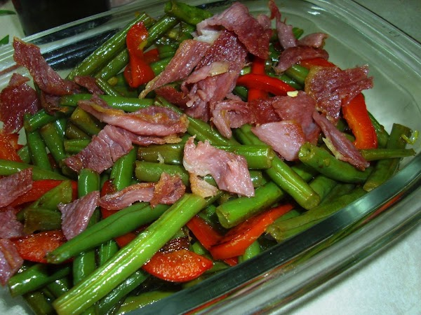 Green Beans With Bacon And Red Bell Pepper Recipe