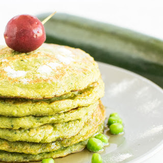 Quinoa Flour, Zucchini, and Peas Pancakes [Vegan, Gluten-Free]