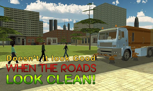 Road Cleaner Truck Simulator