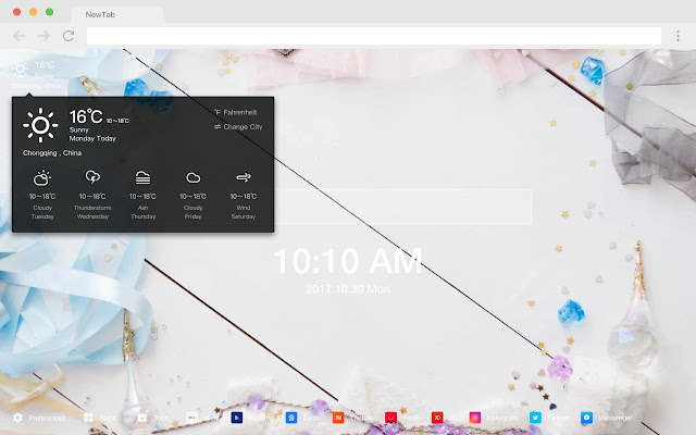 Girly New Tab Page Color HD Wallpapers Theme