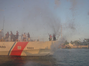 Photo: The Ranger gets blasted by the Coast Guard.