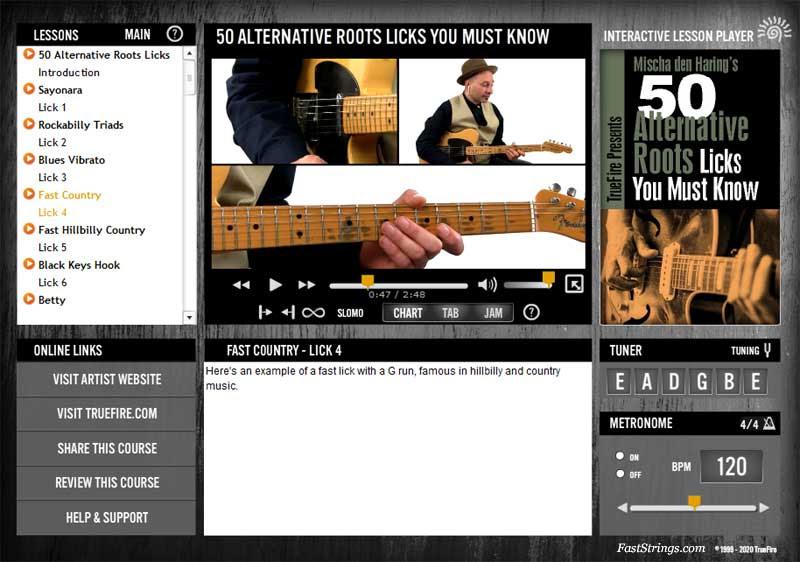 Mischa Den Haring - 50 Alternative Roots Licks You Must Know