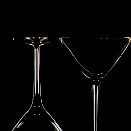 Martini, Please by Chandal Chenier - Artistic Objects Glass ( glass, outline, martini, rim light, drink )