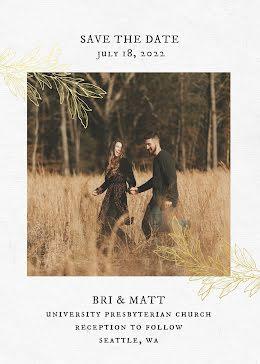Bri & Matt's Wedding - Save the Date item