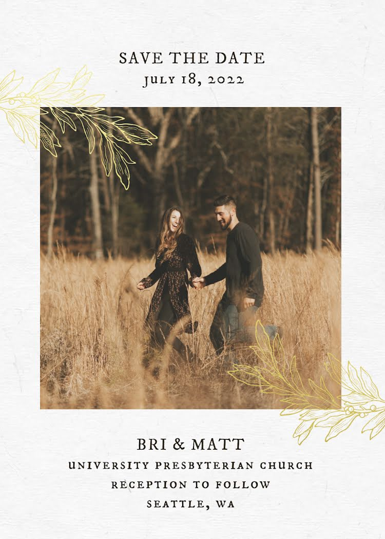 Bri & Matt's Wedding - Wedding Invitation Template