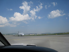 Photo: Who is going to get a takeoff clearance first: we or the jet? http://www.swiss-flight.net