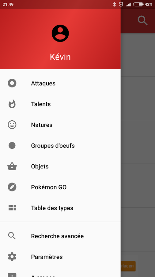 Pokédex for Android- screenshot