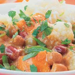Autumn Vegetables and Bean Korma Curry.