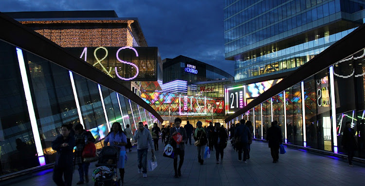 Members of the public engage in late-night shopping at Westfield Shopping Centre Stratford in London, England. Picture: ISTOCK