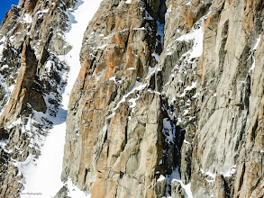 Photo: Team Finland Saku Heiskanen & Mikko Juntunen skiing the Chardonnet South Face