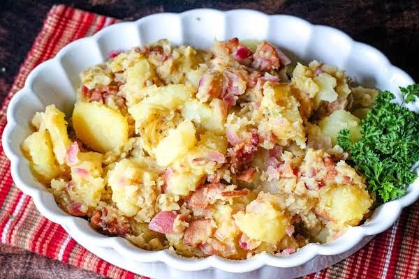A Bowl Of Hot German Potato Salad.