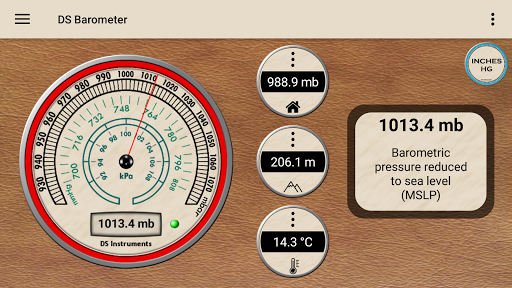 DS Barometer - Altimeter and Weather Information 3.73 screenshots 1