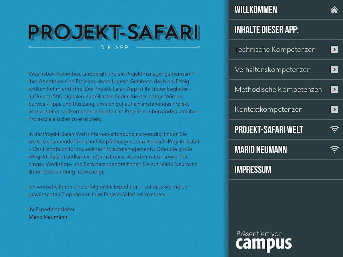 Projekt-Safari – Screenshot