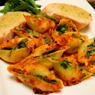 Pasta Shells with Spinach and Ricotta.