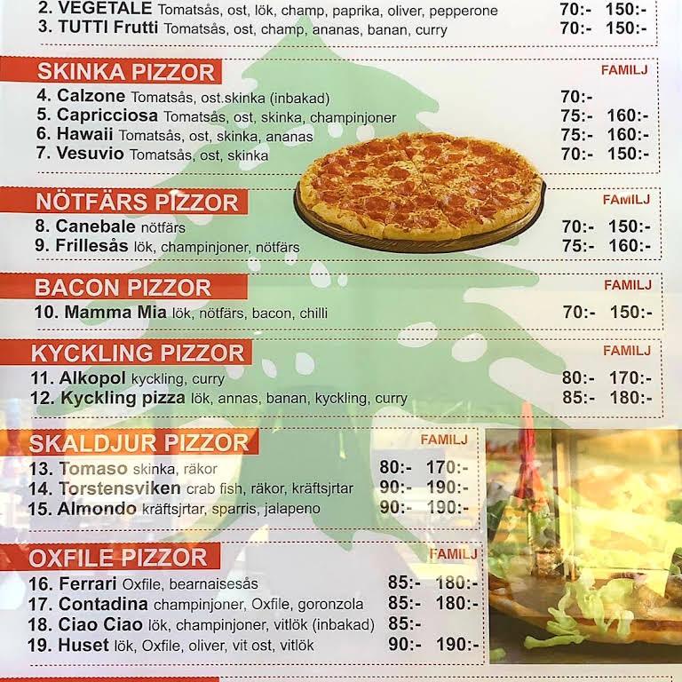 pizzeria beirut borås meny