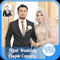 Hijab Wedding Couple Camera icon