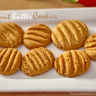 How to make Eggless peanut butter cookies.