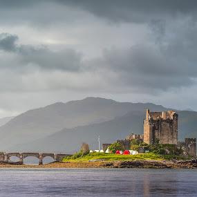 Eilean Donan Castle by Miroslav Havelka - Landscapes Travel ( clouds, scotland, eilean donan, castle, landscape, morning )
