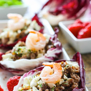 Gluten Free Slow Cooker Raspberry Pork Stuffed Radicchio Wraps