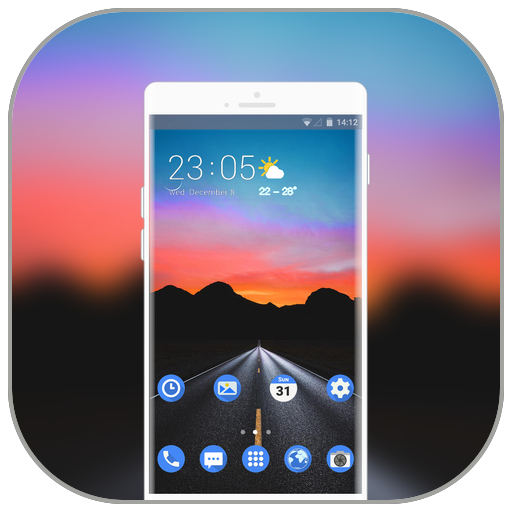 Theme for nokia8 unknown dark road mountain icon