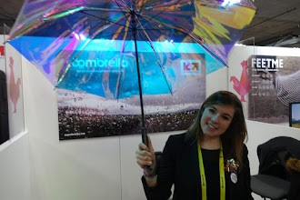 """Photo: Yet another """"nice but hardly life changing"""" device is this umbrella, where LED lights in the handle light up if it's going to rain and you forget to pick it up as you go out the door."""