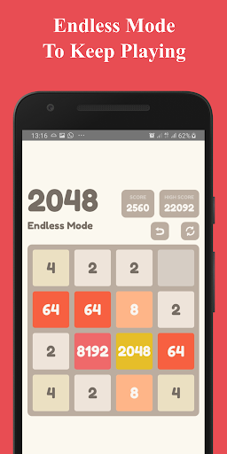 Number Puzzle:  2048 Puzzle Game 2.5 screenshots 3