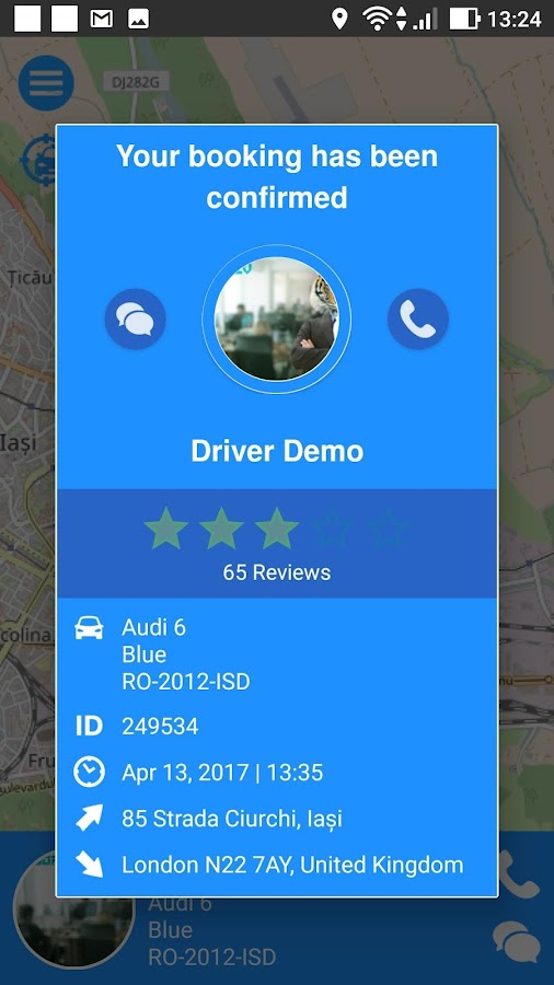 Mylimo Cab- screenshot
