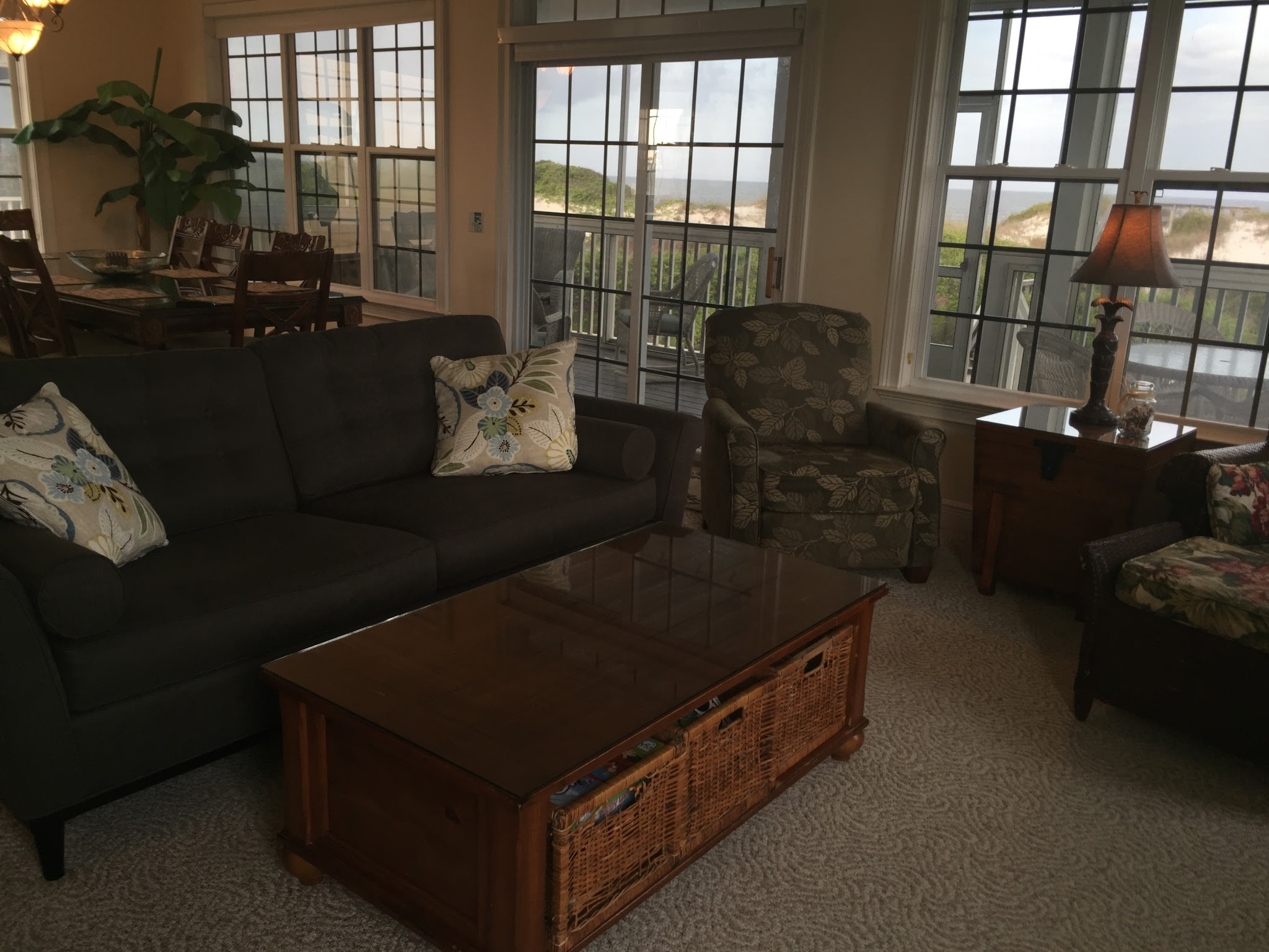 Photo: Living area with queen sleeper sofa