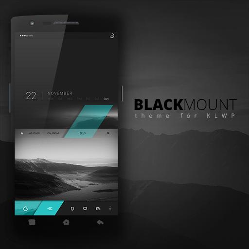 Blackmount theme for KLWP