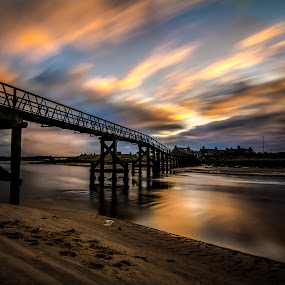 Beautiful Bridge by Lorraine Paterson - Buildings & Architecture Bridges & Suspended Structures ( clouds, scotland, sky, textured, lossiemouth, beautiful )