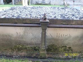 Photo: 38-(N) Mary Ann Rose, died September [28th 1873]------ Rose ---- [1878?]