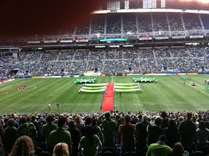 Photo: My first ever soccer game: watching the Sounders at whatever they call that stadium
