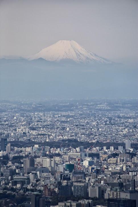 Widok na Fuji ze Skytree, Tokio